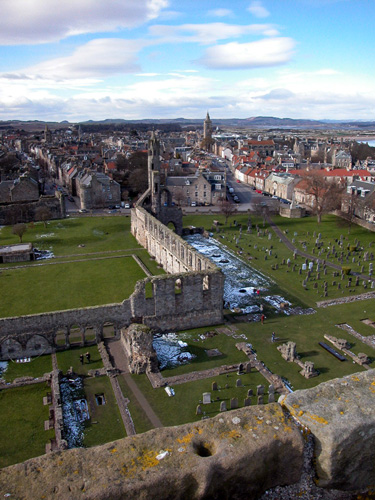 """View from St. Rule's Tower - St. Andrews"" is copyright � 2006 by James G. Mundie. All rights reserved.  Reproduction prohibited."