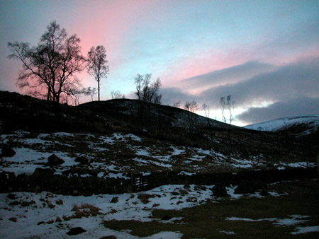 """Sunset Over Cnoc Liath"" is copyright � 2006 by James G. Mundie. All rights reserved.  Reproduction prohibited."